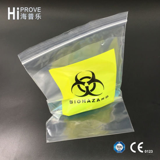 Ht-0735 Custom Printed Biohazard Specimen Transport Bag pictures & photos
