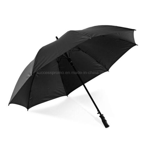 Golf Umbrella in 190t Pongee Fibre Glass Shaft and Ribs