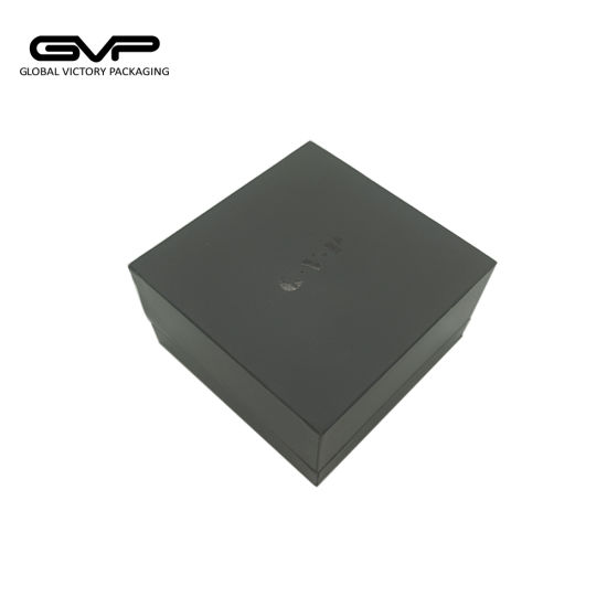 Wholesale China Factory Manufacture Black Plastic Cufflink Gift Storage Box