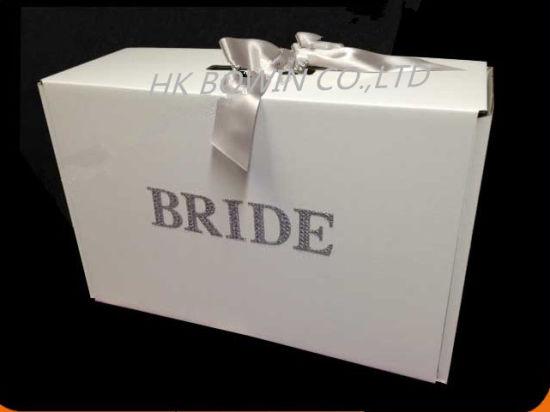 China Large Hard Cardboard Wedding Dress Keepsack Storage Box Gift ...