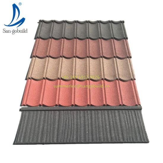 Villa Rooftop Design Modern Stone Coated Steel Roofing Sheet Building Material Metal Roof Tiles