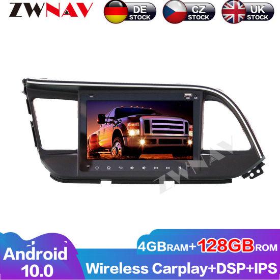 128GB Wireless Carplay Android 10.0 Screen Multimedia Player for Hyundai Elantra 2016 GPS Navi Auto Audio Radio Stereo Head Unit
