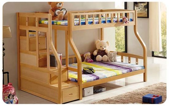 Nice Style Solid Wood Kids Bunk Bed with Ladder Ark (M-X1108)