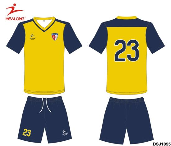 Healong Latest New Design Sublimation Series of Soccer Football Uniforms pictures & photos