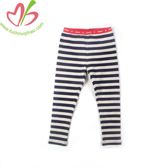 d3e709840 China Black White Cotton Girl Pencil Pants with Stripes for Kids ...