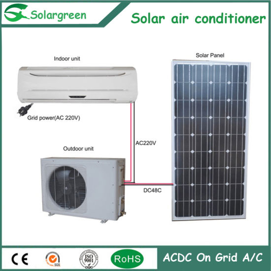 Acdc Hybrid Solar Portable Air Conditioner Heating and Cooling pictures & photos