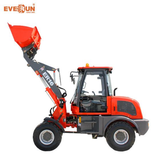 Everun 1.6 Ton High Quality Small Compact Mini Wheel Loader