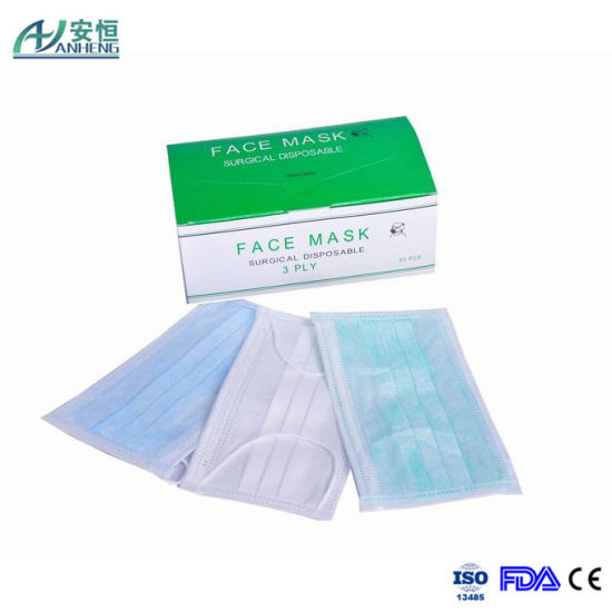 surgical disposable face masks with elastic ear loop