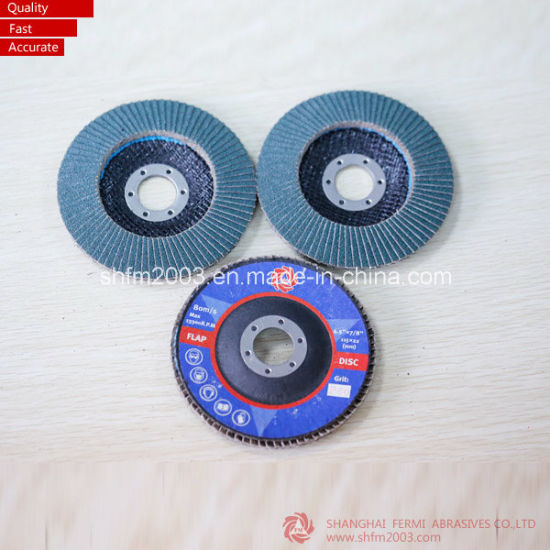 125*22mm Zironia & Aluminum Oxide Flap Disk for Metal (Professional Manufacturer) pictures & photos