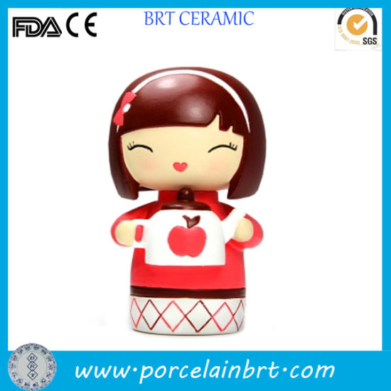 Favorable Home Decor Smile Ceramic Giftware Girl Doll