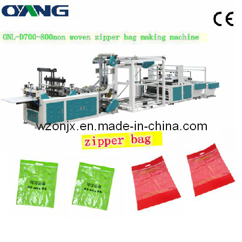 Onl-D700-800full Automatic Non Woven D-Cut Bag Making Machine