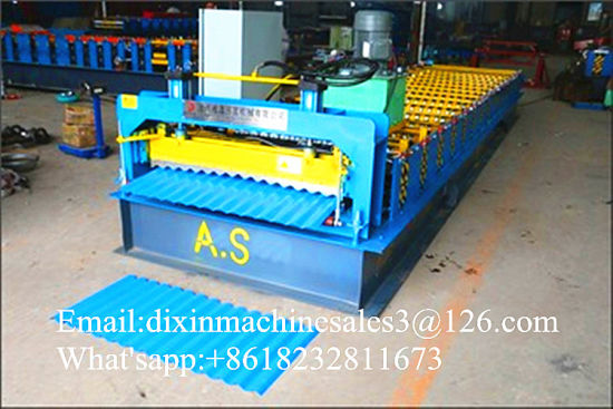 Colored Steel Wall Roof Panel Cold Roll Forming Machine /Metal Roofing Galvanized Aluminum Steel Sheet Making Machine pictures & photos