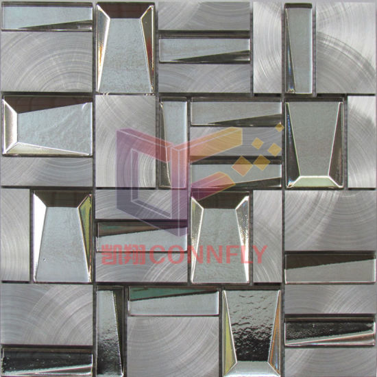 China Silver Aluminium Wall Decoration Mosaic Mix 3-D Glass (CFA112 ...