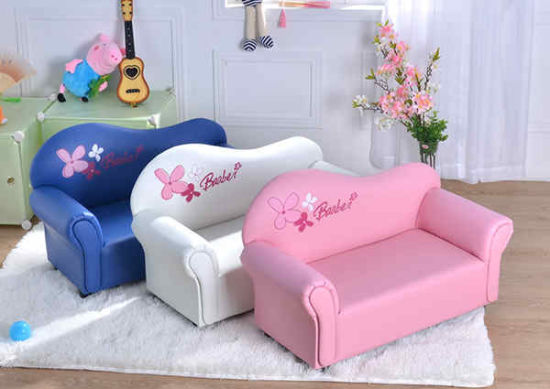 China Leather Foam Sponge 2 Seater Children Sofa Double Chair ...