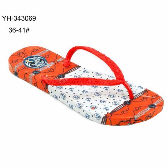 a180798a20d2 China Custom Printing Outdoor Beach PVC Flip Flop Slipper for Ladies ...