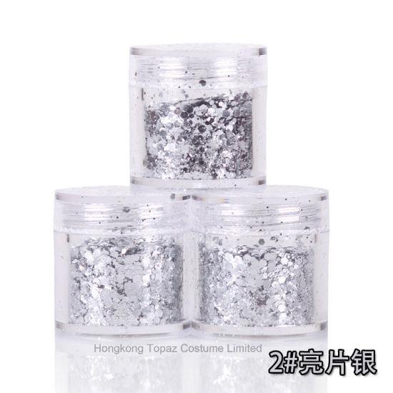 Glitter Multicolor Aluminum Flakes Magic Mirror Effect Nail Art Sequins Powder Gel Polish Tips Manicure Decoration (NR-08)