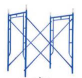 Powder Coated 1219 Mason Walkthrough H Frame Scaffold for Construction