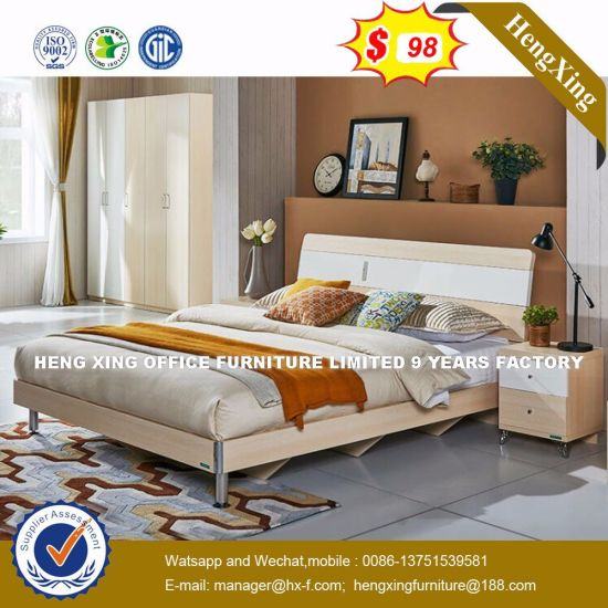 Decorative Glow Clack Wooden Bed (HX-8NR0788) pictures & photos