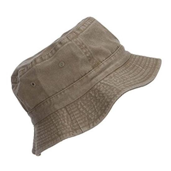 Bucket Hat Cap Cotton Fishing Brim Sun Summer Hat