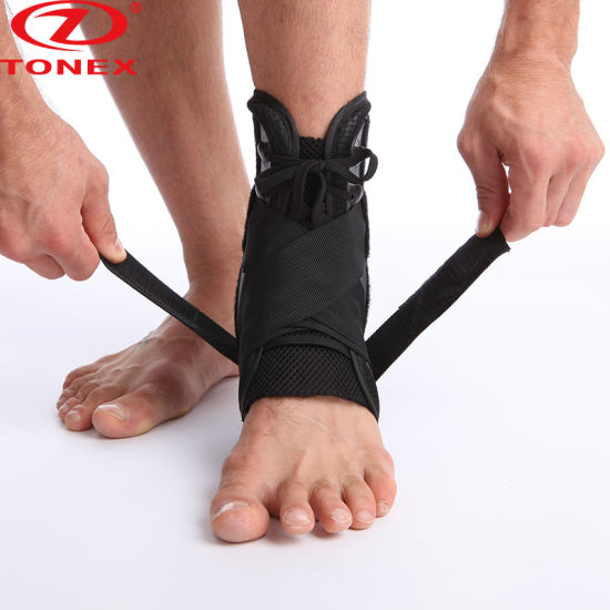 Durable Neoprene Sports Double Elastic Orthopedic Ankle Brace pictures & photos