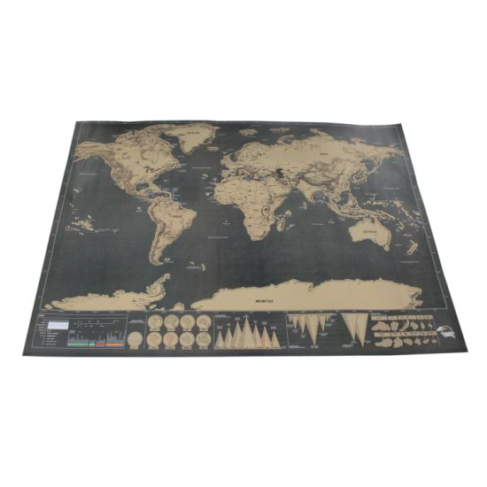 China scratch off world map poster for travelers deluxe edition scratch off world map poster for travelers deluxe edition black gumiabroncs Image collections