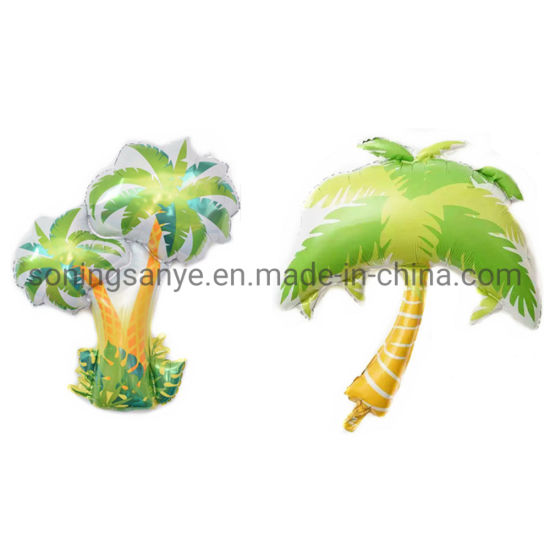 Dto0295 Large Hawaiian Coconut Tropical Palm Tree Leaf Foil Balloon Party Decoration