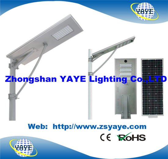 Yaye 18 All in One 60W Soalr LED Street Light /60W Solar LED Road Lamp with 3 Years Warranty