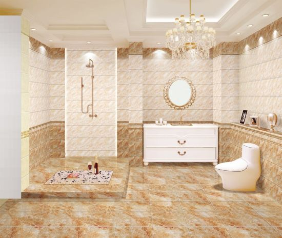 China Foshan Factory Ceramic Floor Tile and Wall Tile for Bathroom ...