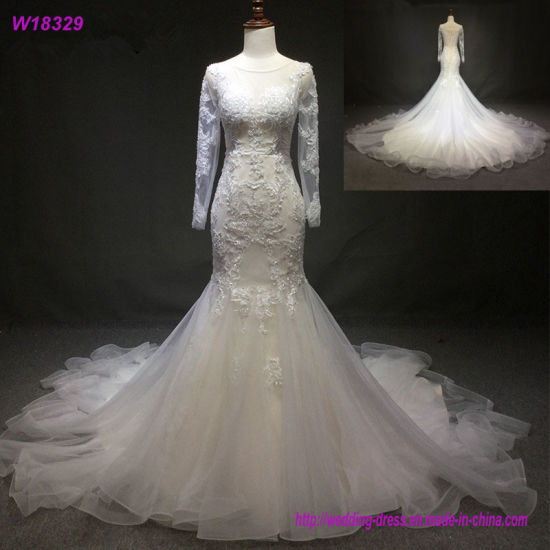 China Cream Wedding Dress 2017 Champagne Lace Bridal Wedding Gowns ...
