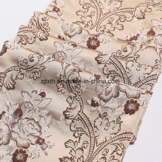 100% Polyester Sofa Designs Custom Pattern Woven Jacquard Fabric for Sofa