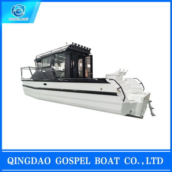 7.5m Full Cabin Walking Round Easy Craft Aluminum Fishing Boat for Sale