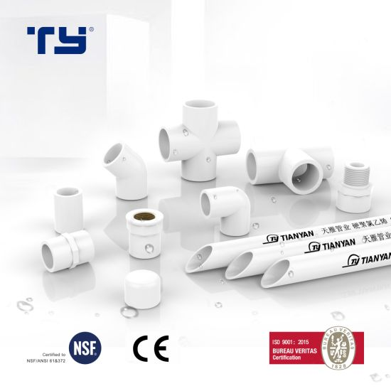 (CPVC/ PVC/ PPR/ PPH) Plastic DIN/ASTM Standard Water Supply Pipe Tube Fitting