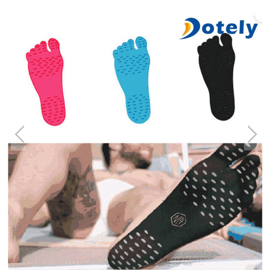 Paired Non Slip Barefoot Beach Invisible Shoe Pad Feet Protection Foot Sticker
