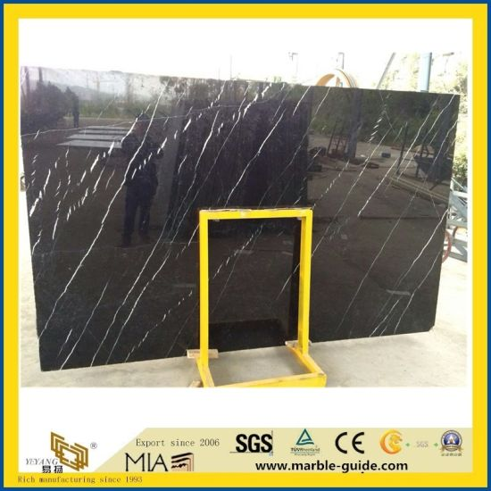 Natural Black Nero Marquina Marble Big Polished Slab for Flooring/Tile/Stair/Paving/Wall/Countertop/Vanity/Kitchen/Bathroom/Sink/Washing/Basin pictures & photos