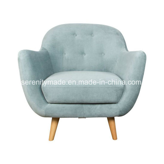 Stylish Modern Furniture Single Seater Velvet Sofa Armchair For Coffee