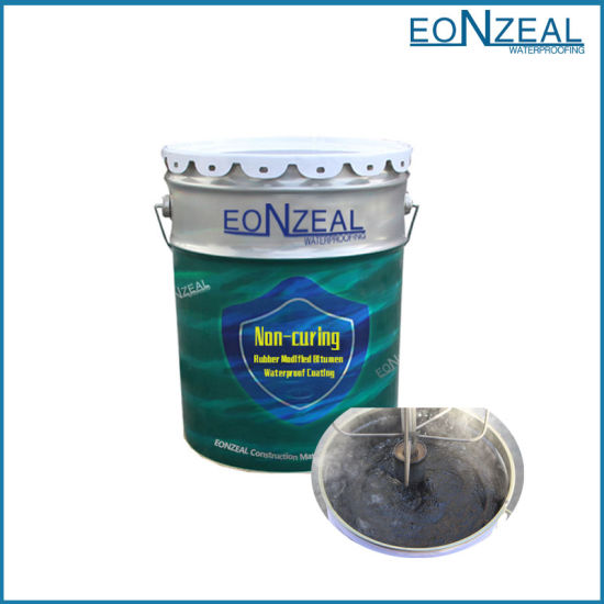 Factory Directed Strong Adhesive Non-Curing Rubber Modified Bitumen Waterproof Coating