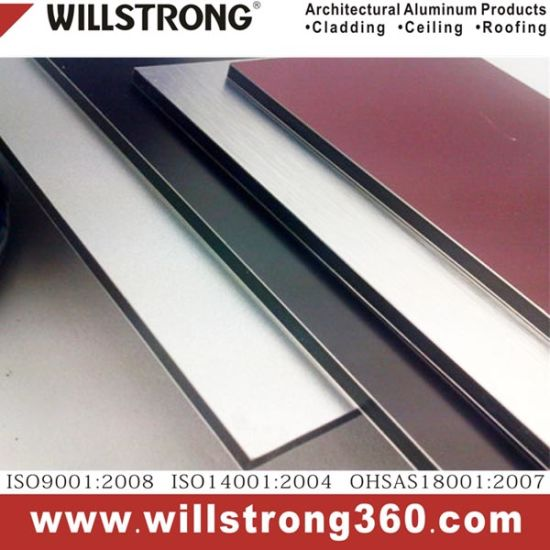 Golden Brushed Aluminum Composite Panel for Wall Systems Facade Architectural Facades Panels Canopy Ceiling Signage Ventilated Facades pictures & photos