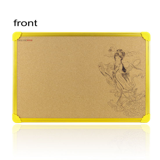 Printing Bulletin Corkboard with Golden Aluminum Frame-40*60 Cm