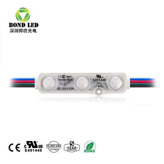 UL List Hot Sale Waterproof DC12V IP68 RGB LED Module for Signboard pictures & photos