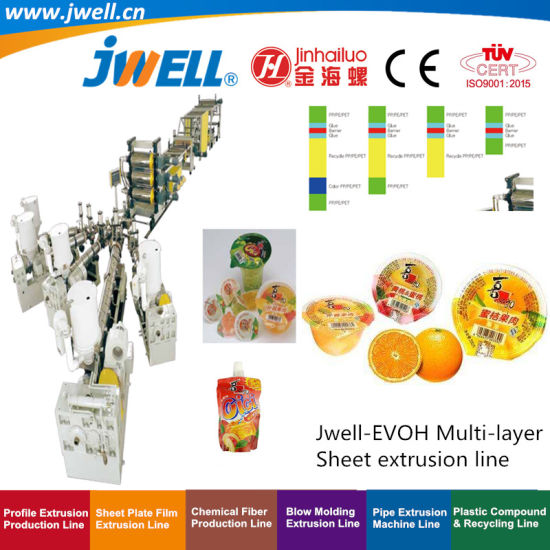 Jwell-PP|EVA|EVOH|PS|PE|HIPS Plastic Multi-Layer Sheet Recycling Agricultural Making Machine for Suction Package Stationery Decoration Preservative|Wrap Film