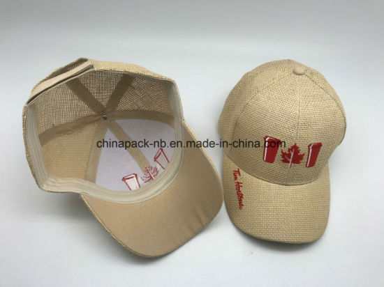 Straw Baseball Cap with Embroidery Logo pictures & photos