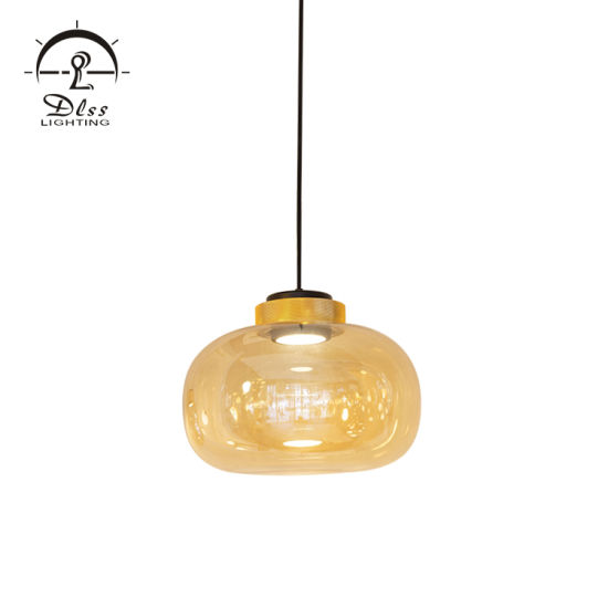 Dlss Wholesale Modern Glass Round Island Pendant Light LED