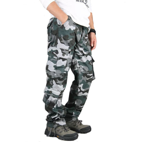 China Casual Camouflage Trousers Men Cargo Pants Cotton Garment