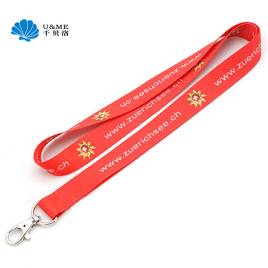 Custom Printed Neck No Minimum Order Cheap Event Lanyard with Trigger Hook