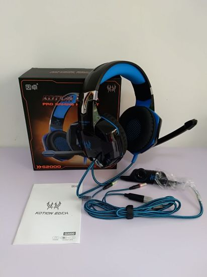 Gaming Headset Gaming Headphone with Mic LED Light for PC Gamer Best PC PS4  7 1 G2000