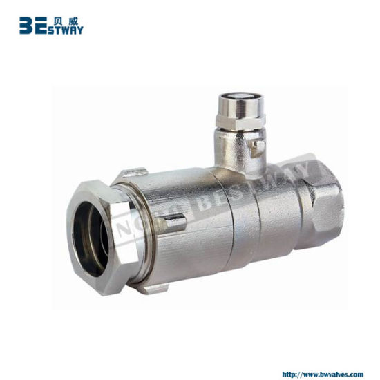 Brass Lockable Ball Valve with Round Handle (BW-L09) pictures & photos