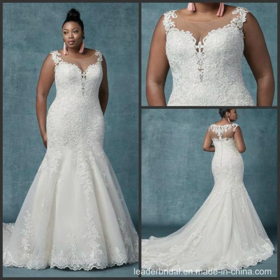 Custom Bridal Gowns Plus Size Mermaid Lace Wedding Dress ...