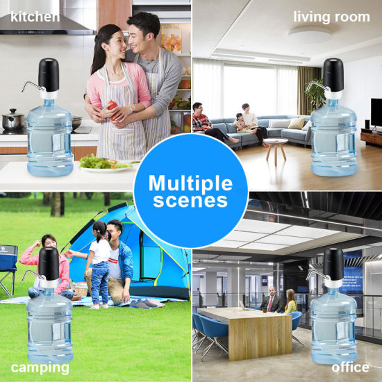 Rechargeable Easy Use Automatic Bottled Water Pump with Inside Battery Wd02
