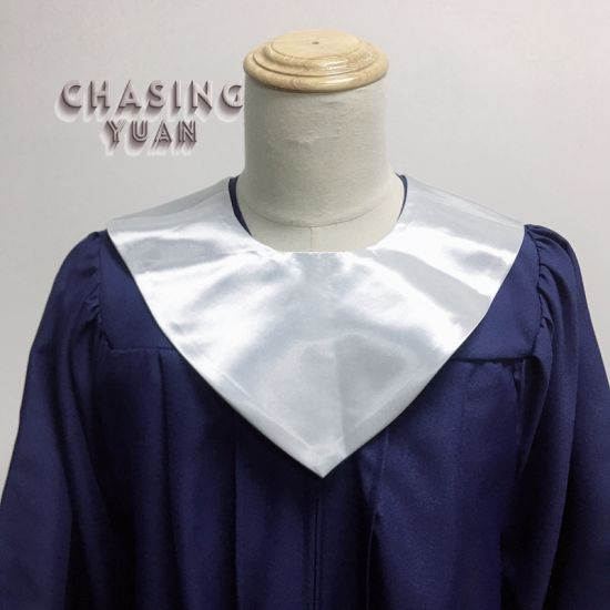 Wholesale Silver V Neck Graduation Stole