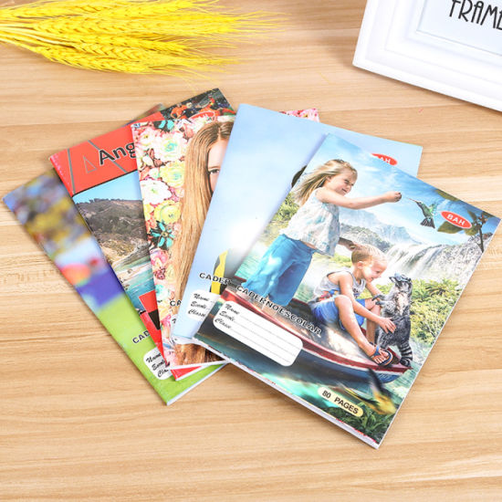 Wholesale Composition Books with Saddle Stitch Binding exercise Book